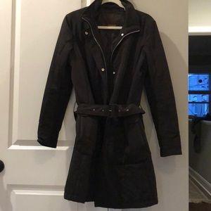 Allegri Black Winter Trench Coat